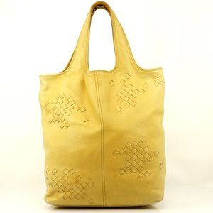Auth Bottega Veneta Leather Yellow Hand #3375B11